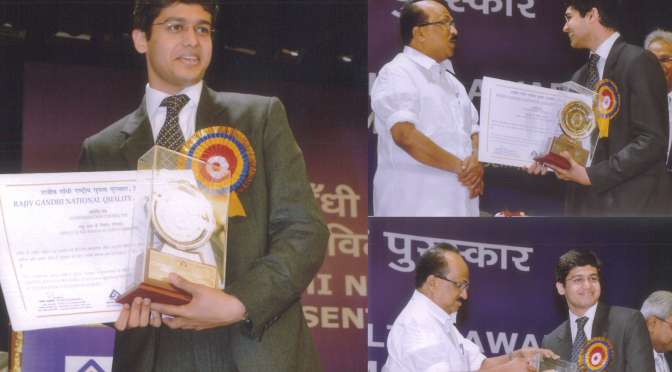 BiOZEEN wins Rajiv Gandhi National Quality Awards Commendation certificate